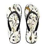 Sandalia fina unisex con chanclas,Colección de caras de reloj...