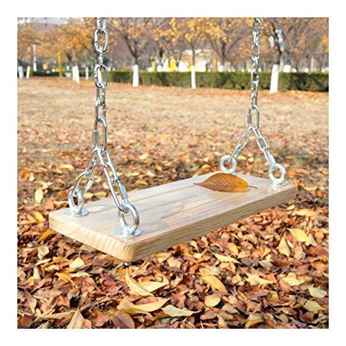 HAOT Balançoire,Chaînes réglables en Hauteur Chaise Suspendue Jardin d'extérieur Décoratif Bois Double balançoire pour Enfants Balançoire pour Enfants (Taille: 60 cm)