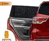JELLYBABABABY Universeller Sonnenschutz Auto Baby - UV Schutz Sonnenblende Kinder 2 Stück - Hochwertiger Auto Sonnenrollo für Kinder, Babys & Haustiere im Rücksitz - Schnelle Installation