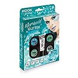 Meerjungfrauen Glitzer-Set von Moon Glitter - 100% kosmetischer Glitzer für Gesicht, Körper, Nägel, Haare und Lippen