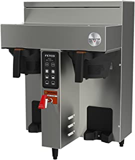 FETCO CBS-1132-V+ Twin 1.0 Gal Coffee Brewer (E113252), Stainless Steel, Digital Touchpad