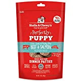 Stella & Chewy'S PPFD-BS-14 Perfectly Puppy Freeze-Dried Raw Beef and Salmon Dinner Patties Grain-Free Dog Food, 14 oz Bag