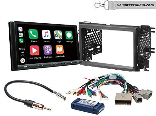 Sony XAV-AX5000 Double Din Radio Install Kit With Apple CarPlay, Android Auto, Sirius XM Ready Fits 2007-2010 Edge (With factory amplified sound)