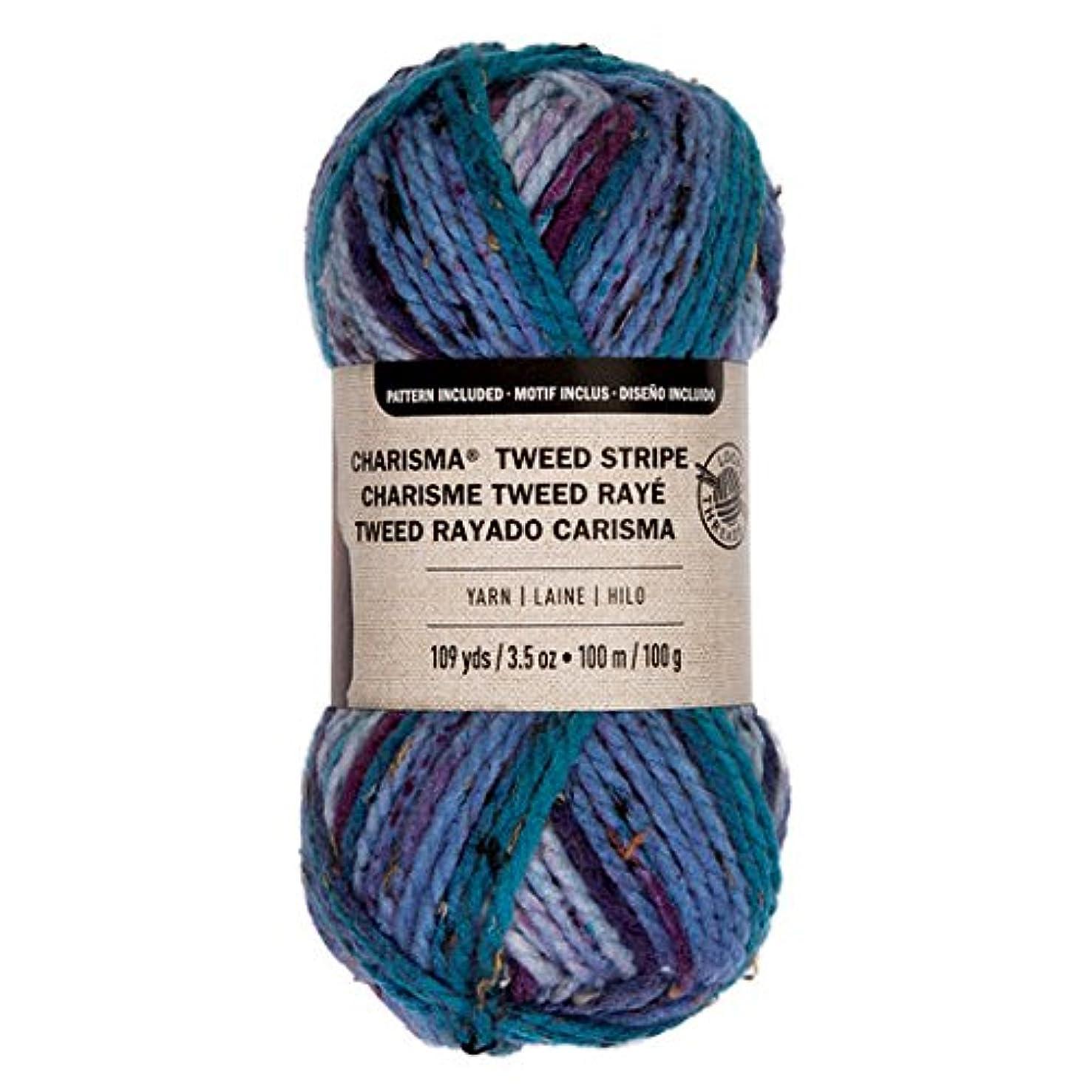 Loops & Threads Charisma Tweed Stripe Yarn 1 Ball 3.5 oz. - Mountain Lake
