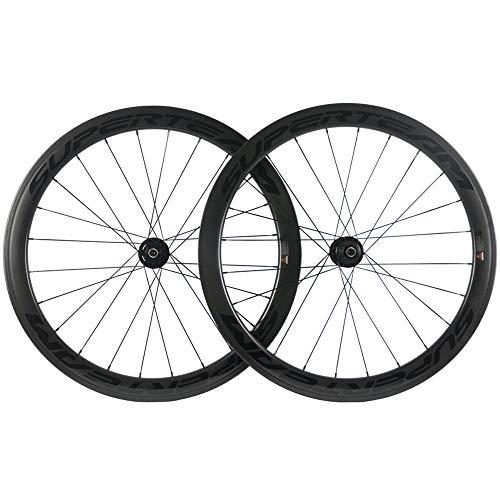 Superteam 50mm Disc Brake Road Bicycle Wheelset 700c 25mm Carbon Clincher Wheel