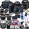 Canon EOS Rebel T8i DSLR Camera with 18-55mm Lens & Ultimate Accessory Bundle – Includes: 2X 32GB SDHC Memory Card, Extended Life Battery, Case, Filters & More by Blue Pixel