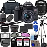 Canon EOS Rebel T8i DSLR Camera with 18-55mm Lens & Ultimate Accessory Bundle – Includes: 2X 32GB SDHC Memory Card, Extended Life Battery, Case, Filters & More