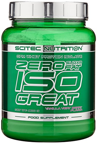 Scitec Nutrition Zero Isogreat Proteína Cero Azúcar/Cero Grasa Vainilla Frutas de Bosque - 900 g