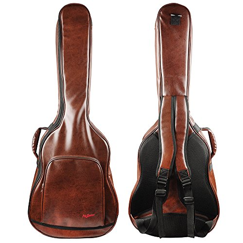 Mr.Power Guitar Gig Bag for 40 41 inch Full Size Acoustic Guitar Classical Guitar PU Leather Musicians Gear