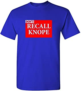 The Goozler Dont Recall Knope - Vote Election Office - Mens Cotton T-Shirt