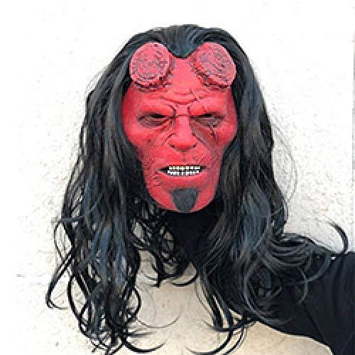 XWYWP Mscara de Halloween Rise of the Blood Reina Mscara Cosplay Hellboy Llamada de la Oscuridad Mscaras de Ltex Casco Terror Halloween Party Props Gota Ship Hellboymask