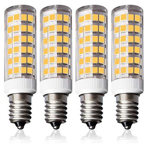4er Pack Lampaous LED 7W SES E14 Glühlampe 500LM Naturweiß Neutralweiss 360 ° Atrahlwinkel Kühlschranklampe/Nähmaschinenlampe/Wandlampe/Tischleuchte/Kronleuchter