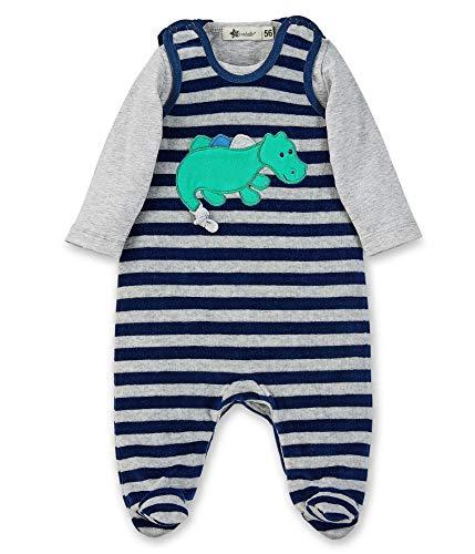 Sterntaler Baby-Jungen Barboteuse Konrad Formender Body, Blau (Marine 300), 3-6 Monate (Herstellergröße: 62)
