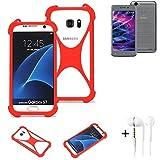 K-S-Trade® Mobile Phone Bumper + Earphones For Medion