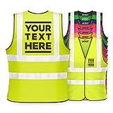 Hi Vis Personalised Vest <span class='highlight'>Safety</span> Reflective Waistcoat <span class='highlight'>Security</span> Hi Viz (XL, Yellow)