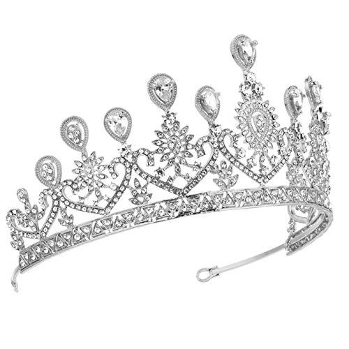 FRCOLOR Diamantes de Imitación Corona de Boda Tiaras Corona de Reina Barroca...