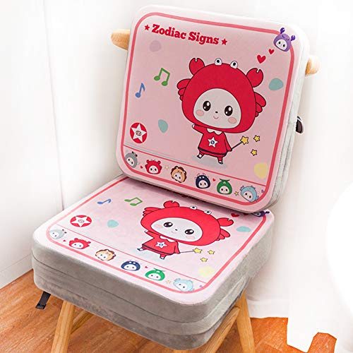 Find Bargain Baby Increased Pad Booster Seat Cushion, Adjustable Removable Kids Dining Chair Baby Highchair Seat Pad, Twelve Constellations