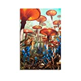 WEILEI Póster de caracoles testigos de un ejército de hormigas atacando el bosque de hongos y arte para pared, impresión moderna para dormitorio familiar de 20 x 30 cm