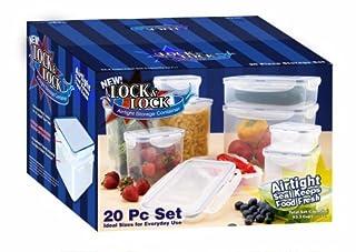 Lock & Lock HPL20BS 20-Piece Polypropylene Food-Storage Container Set (B001AS8FMQ) | Amazon price tracker / tracking, Amazon price history charts, Amazon price watches, Amazon price drop alerts