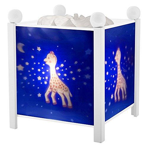 TROUSSELIER - Sophie la Girafe - Veilleuse - Lanterne Magique - Idéal Cadeau Enfant - Dessin animé - Lumière rassurante - Couleur Bois Blanc - Ampoule 12V 10W inclue - Prise Elec. EU