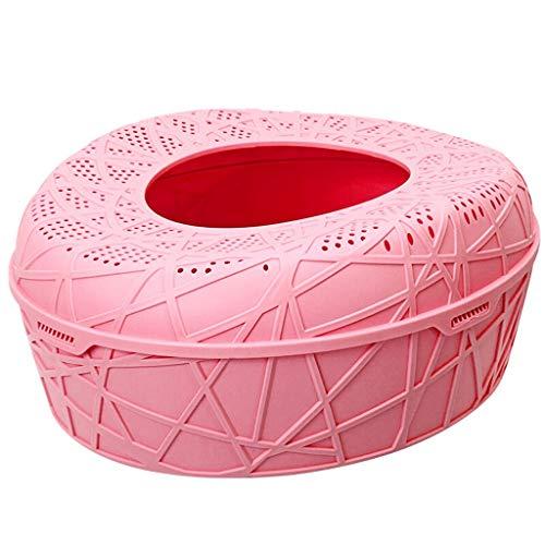 hkwshop Caja de Arena Tipo de Entrada Superior Caja de Arena Lucha contra Salpicaduras Inodoro for Gatos Plegado en la Cuenca de Arena for Gatos Semi-Cerrado Espacio Extra Grande Sanitario Gato