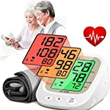 Portable Automatic Blood Pressure Tracker, Digital LED Pulse Rate Systolic Diastolic BP Monitor