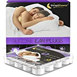 SleepDreamz® Silicone Ear Plugs for Sleeping – x8 Pairs of Noise Cancelling Ear