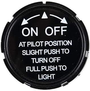 Hearth Products Controls (HPC Replacement Black Pilot Control Knob (111)