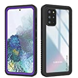 Punkcase S20 Plus Waterproof Case [Extreme Series] [Slim Fit] [IP68 Certified] [Shockproof] [Dirtproof] [Snowproof] Armor Cover Compatible W/Samsung Galaxy S20 Plus (6.7') [Purple]