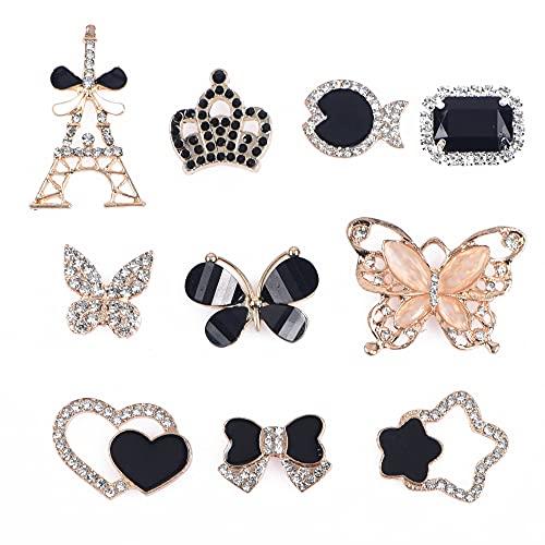 MoreDays Adornos esmaltados para zapatos, accesorios de joyería, se adapta a sandalias de zueco, decoración para niñas, mujeres, fiestas, regalos de cumpleaños
