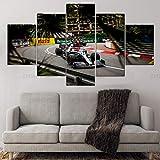 5 Stück Monaco Gp Lewis Hamilton F1 Poster Auto Leinwand