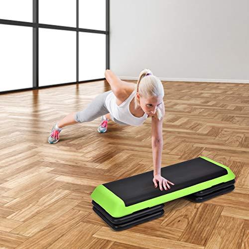 Goplus 43'' Adjustable Fitness Aerobic Step Stepper Platform 4