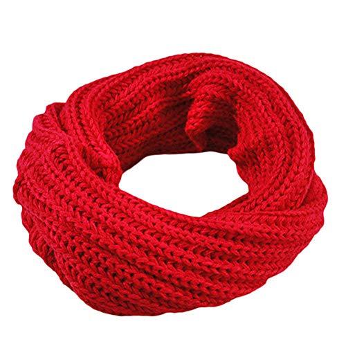 MYTJG Lady sjaal vrouwen herfst en winter warme sjaal ronde wol breien dikke ronde hals sjaal wrap coat ronde hals solide sjaal