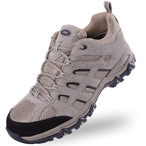 TFO Zapatos de senderismo para hombre, impermeables y transpirables, con suela antideslizante., color, talla 46 EU