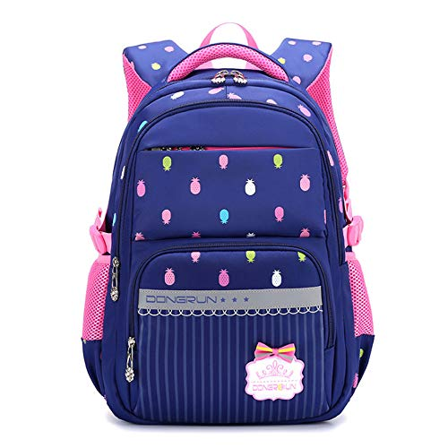 ZHAOYONGBING Children Backpack,Children School Bag, Cute Cartoon, Breathable, Shockproof Decompression, Large Capacity, Children Shoulder Bag, School Bag. Grey