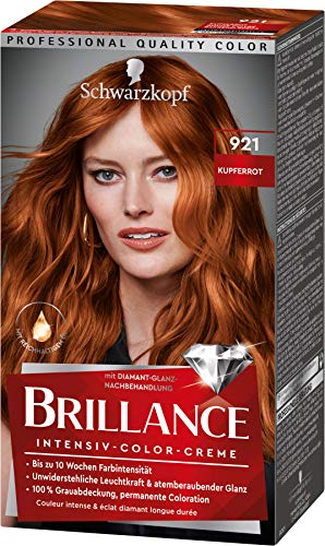 Brillance Intensiv-Color-Creme Haarfarbe 921 Kupferrot Stufe 3, 3er Pack(3 x 160 ml)