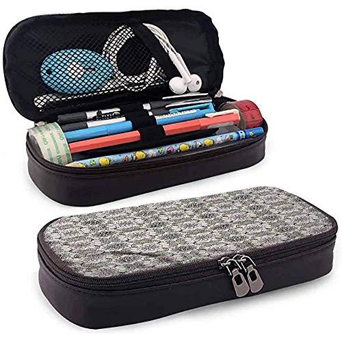 Bleistiftbeutel, federmäppchen tasche, federmäppchen, große kapazität stifthalter grau und rosa blumen quatrefoil 20cm * 9cm * 4cm