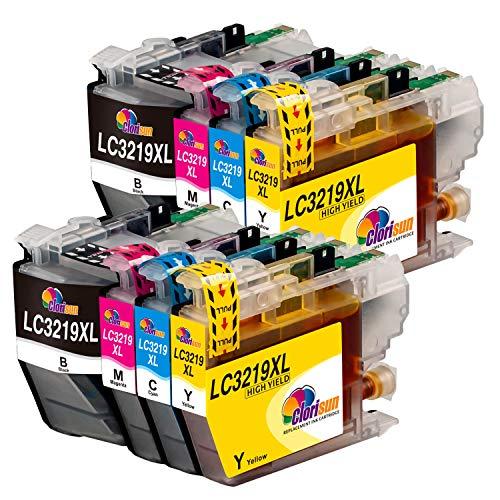 Clorisun LC3219XL Druckerpatronen Kompatible für Brother LC3219 LC 3219 3219 XL LC3217 LC 3217 Patronen Ersatz für Brother MFC J5330DW J6930DW J6530DW J5335DW J5730DW J5930DW J6935DW(8er Pack)