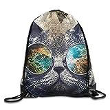 engzhoushi Mochila de Cuerda,Bolsa de Cuerdas Cute Cupcake Drawstring Bags Portable Backpack Pocket Travel Sport Gym Bag Yoga Runner Daypack