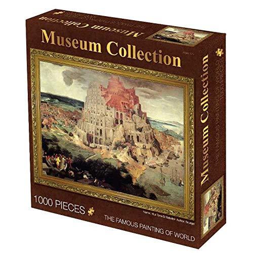 XKALXO 1000 Teile Puzzles Für Erwachsene, Weltberühmte Puzzles Für Ölgemälde, Babylon Tower, Dekompressionsspiele Für Erwachsene, Puzzlespiel Für Kinderpuzzlespiele