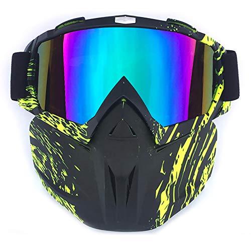 C- Occhiali da Sci, Occhiali da Sci Occhiali da Sci Invernali Antivento Occhiali da Motocross con Maschera da Sci Sci Snowboard Occhiali da motoslitta,J