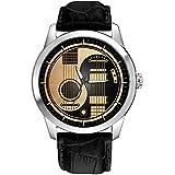 Hermoso reloj de pulsera de latón sintético Yin Yang Acús