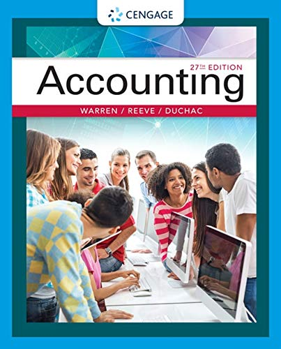 Compare Textbook Prices for Accounting 27 Edition ISBN 9781337272094 by Warren, Carl S.,Reeve, James M.,Duchac, Jonathan