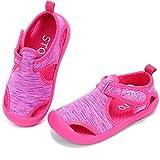 STQ Toddler Girl Sandals Cute Aquatic Water Shoes for Beach Swim Pool Water Park HOT PINK 6 M US Toddler
