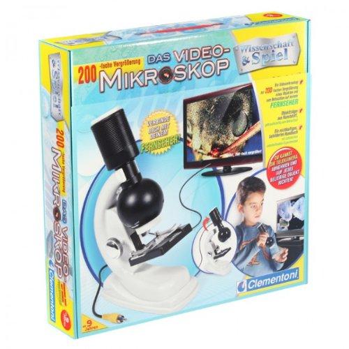 Clementoni - Video Mikroskop Wissenschaft Lernspielzeug für Kinder ab 9 Jahre NEU OVP