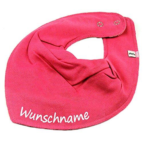 Elefantasie Elefantasie HALSTUCH mit Namen oder Text personalisiert pink für Baby oder Kind