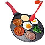 Pan for Pancakes, Smiley Face Pancake Pan Nonstick Grill Pan Mini Blini Pancakes Smile Mold with Non-slip Handle,10 Inch