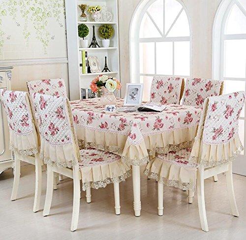 nappes pastorales de dentelle, tissu de table, linge de table, chaise linge de table coussin, couverture de chaise,130*130CM