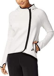 NIKE Sportswear Womens Tech Fleece Cape Hoodie Black/Black