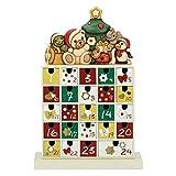 THUN ® - Calendario dell'avvento in Legno con Personaggi - Ceramica - 30 x 13 x 43 cm
